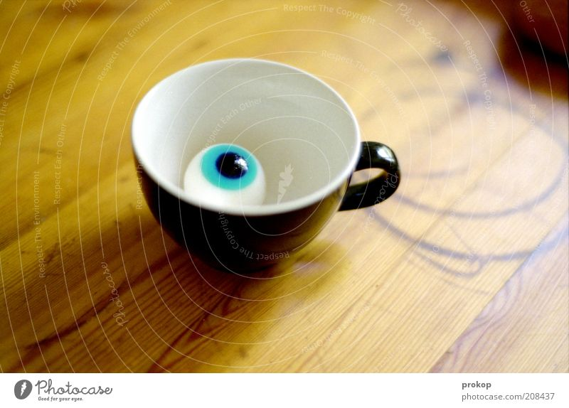 Eyes Brown Crazy Table Simple Exceptional Plastic Without Cup Symbols and metaphors Disgust Surprise Humor Hideous Looking