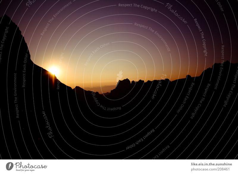 Nature Sun Summer Calm Relaxation Mountain Landscape Contentment Power Environment Horizon Rock Esthetic Violet Switzerland Climbing