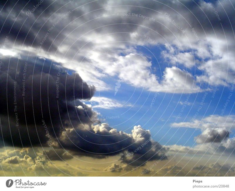 Sky Summer Clouds Weather Dangerous Threat Curiosity Thunder and lightning Concern Storm clouds