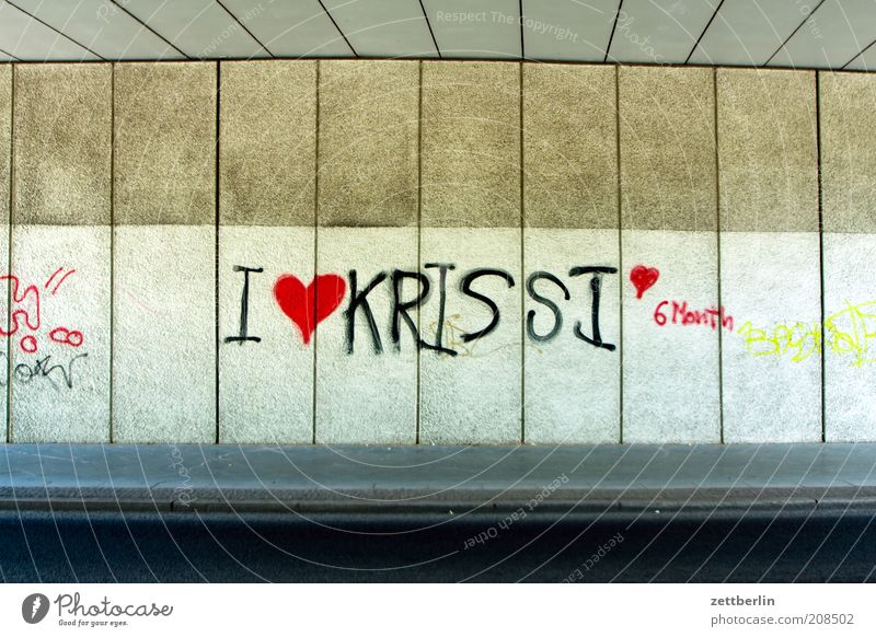 I <3 KRISSI <3 6 Month Youth culture Subculture Bridge Manmade structures Uniqueness Joy Happy Sympathy Love Infatuation Graffiti Characters Declaration of love