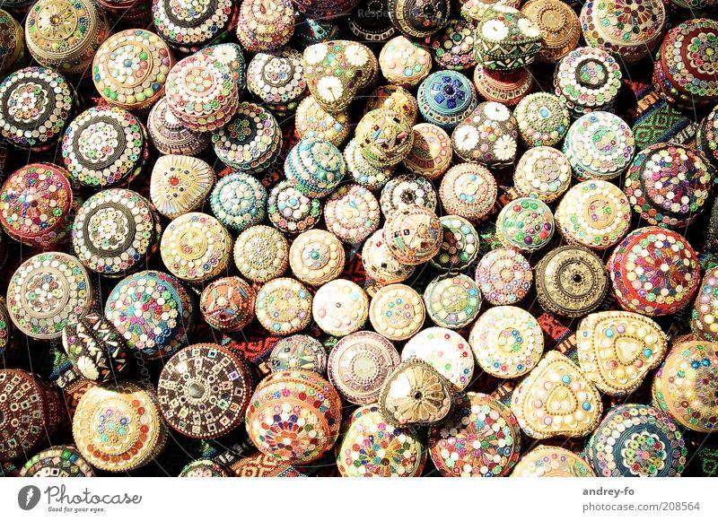Beautiful Art Small Round Kitsch Decoration Culture Jewellery Cute Multicoloured Many Pearl Tin Bowl Turkey Accumulation