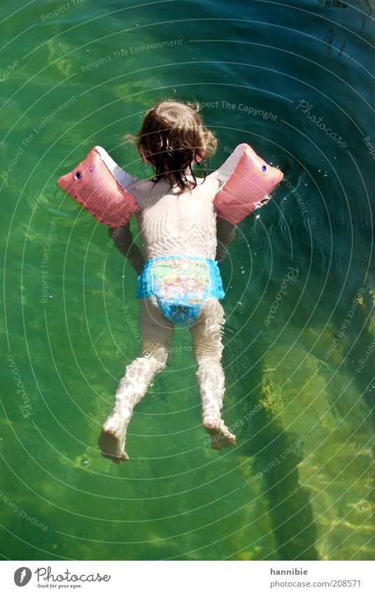 Human being Child Water Green Summer Joy Relaxation Boy (child) Wet Swimming & Bathing Village Infancy Hover Ease