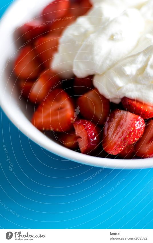 White Blue Red Nutrition Healthy Food Fruit Delicious Candy Turquoise To enjoy Plate Berries Strawberry Dessert Brunch