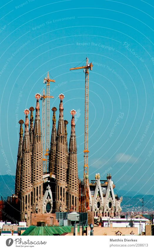 Beautiful Old City Summer Building Architecture Europe Esthetic Church Construction site Tower Fantastic Monument Manmade structures Spain
