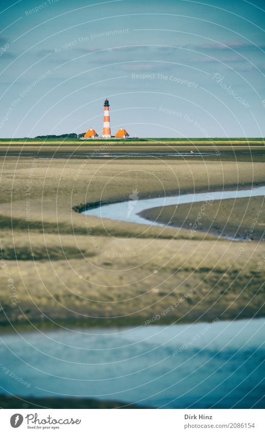 Lighthouse Westerhever Vacation & Travel Tourism Trip Far-off places Freedom Summer Summer vacation Beach Ocean Coast North Sea Maritime Tradition