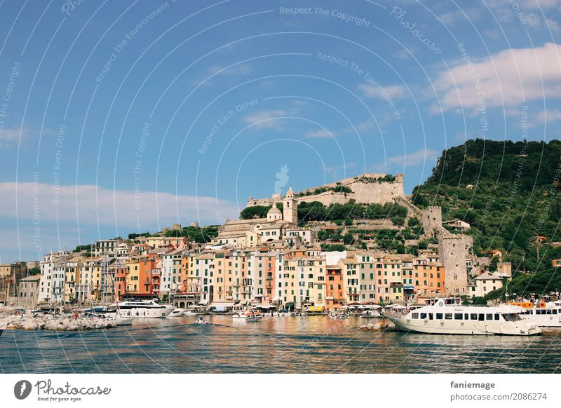 Cinque Terre XVI Village Fishing village Small Town Port City House (Residential Structure) Beautiful Portovenere Italy Picturesque Travel photography