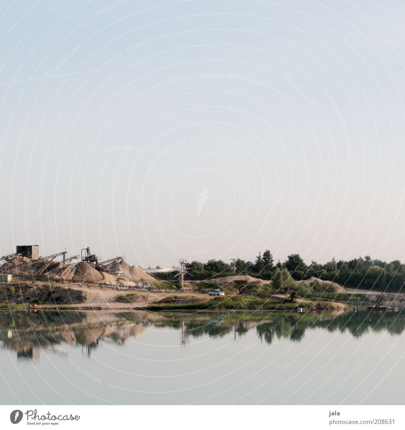 Nature Sky Blue Lake Landscape Industry Reflection Workplace Pebble Stone Morning Sandbank