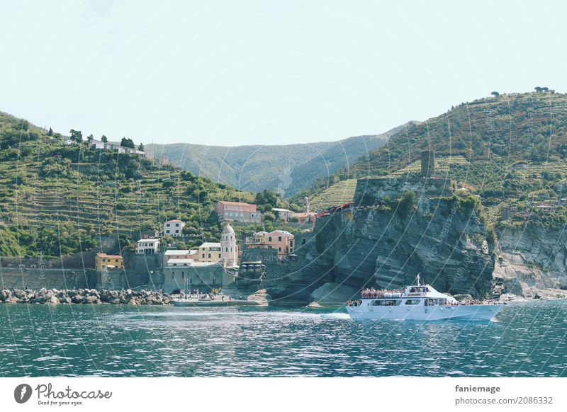 Nature Vacation & Travel Summer Ocean Lifestyle Tourism Rock Watercraft Bright Esthetic Idyll Picturesque Italy Harbour Summer vacation Old town