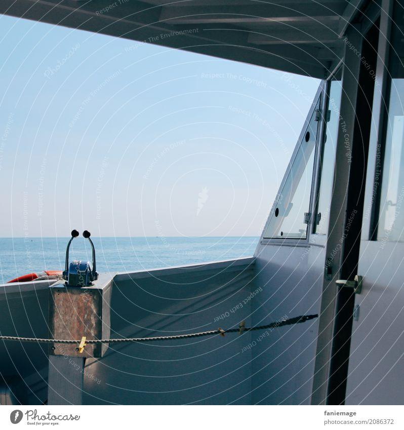 Cinque Terre V Lifestyle To enjoy Boating trip Watercraft Steering wheel Rope Ocean Italy Mediterranean sea To swing Blue Shadow Break Driving Gas Tourism