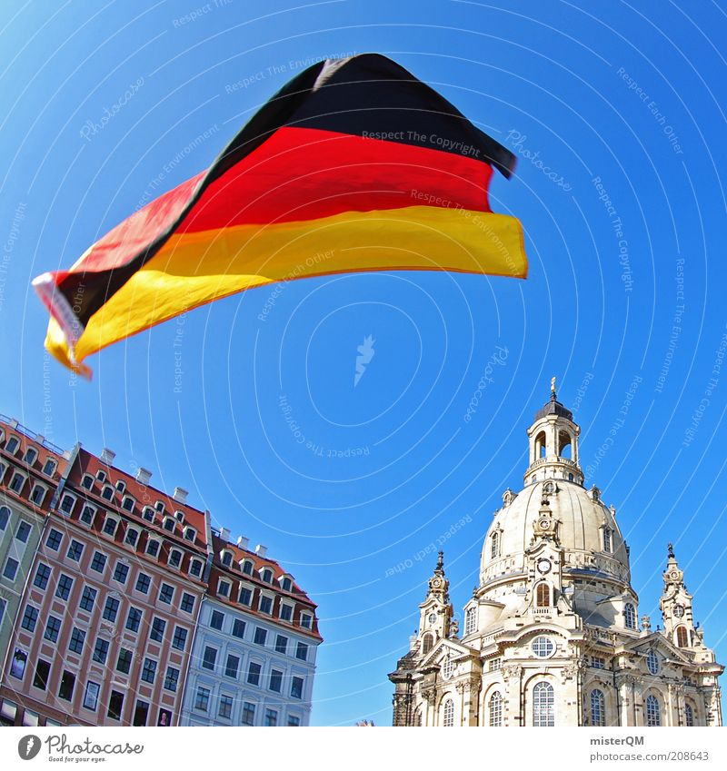 Red Summer Black Emotions Soccer Feasts & Celebrations Art Architecture Gold Esthetic Flag Culture Dresden Event Saxony