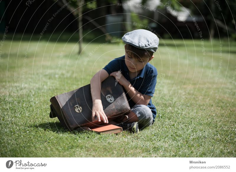 Human being Child Summer Beautiful Life Meadow Boy (child) Garden Masculine Infancy Sit Study Cap Toddler Nostalgia Lift