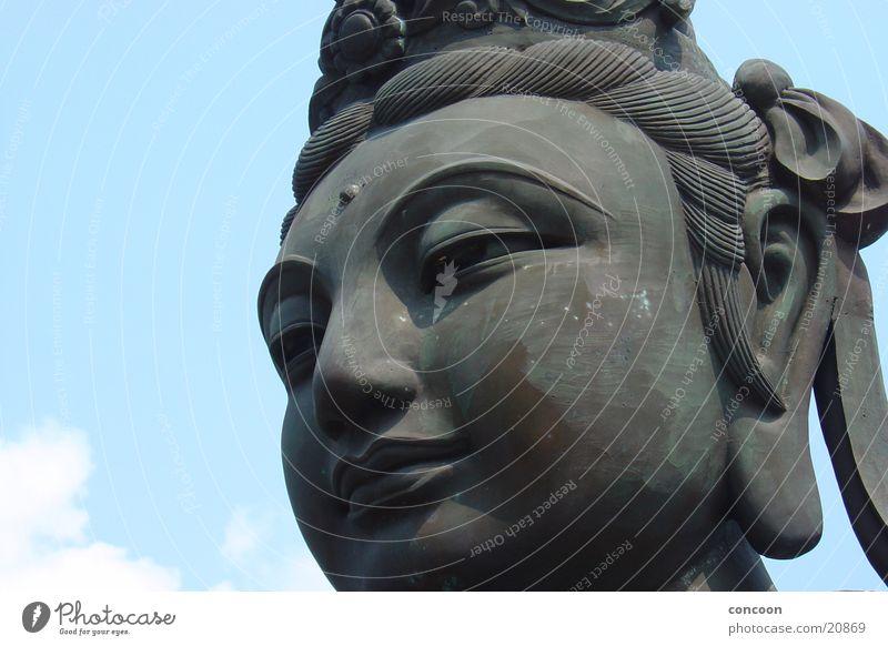 Large China Statue Buddhism Hongkong Buddha Polish Monastery California Los Angeles