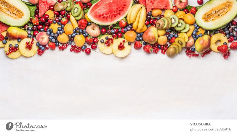 Summer variety of fruit and berries Food Fruit Apple Orange Nutrition Organic produce Vegetarian diet Diet Shopping Style Design Healthy Eating Life Flag