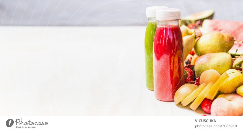 Smoothies with fruits Food Fruit Nutrition Organic produce Vegetarian diet Diet Beverage Cold drink Lemonade Juice Bottle Shopping Style Design Healthy