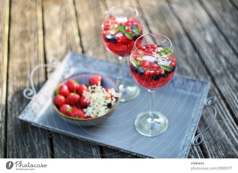 summer tastes like this Fruit Strawberry Berries Elderflower Raspberry Blueberry Beverage Cold drink Alcoholic drinks Sparkling wine Prosecco Bowl Glass