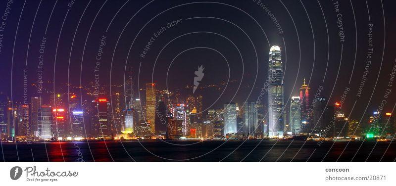 City Colour Glittering Success High-rise Energy industry China Hongkong Sea of light