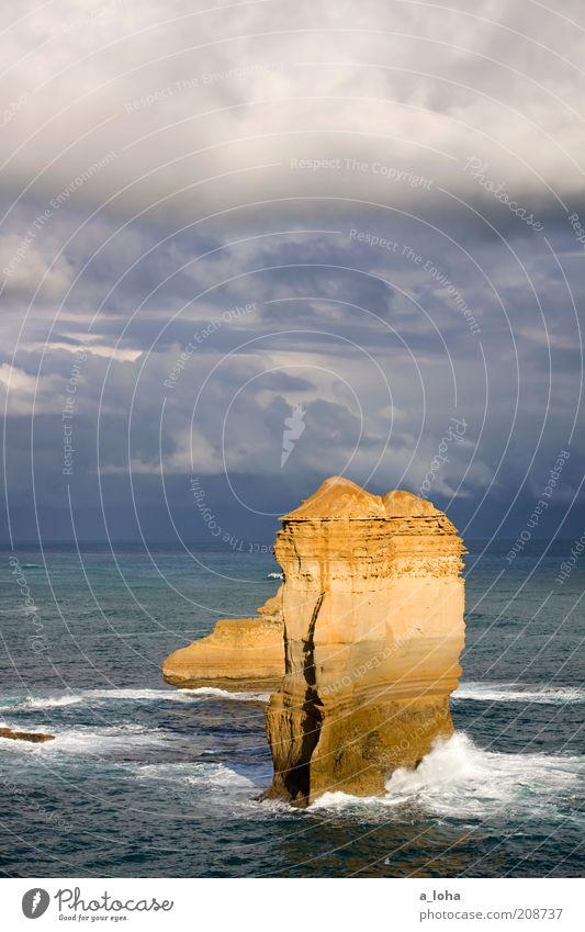 Sky Ocean Dark Emotions Movement Coast Horizon Waves Wind Rock Wild Wet Natural Tall Dangerous Exceptional