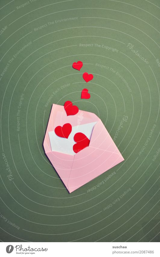 Red Love Emotions Pink Copy Space Heart Information Letter (Mail) Lovesickness Communication Envelope (Mail) Declaration of love Love letter Love life
