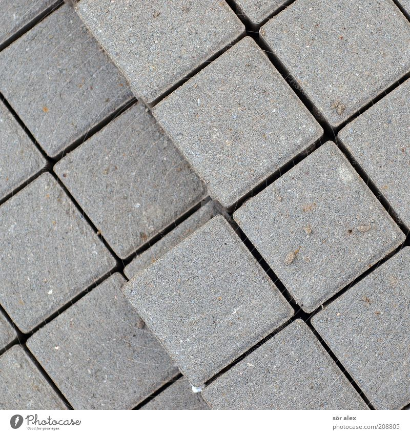 Background picture Gray Stone Arrangement Copy Space Material Row Square Sharp-edged Geometry Paving stone Stack Build Symmetry Cube Seam