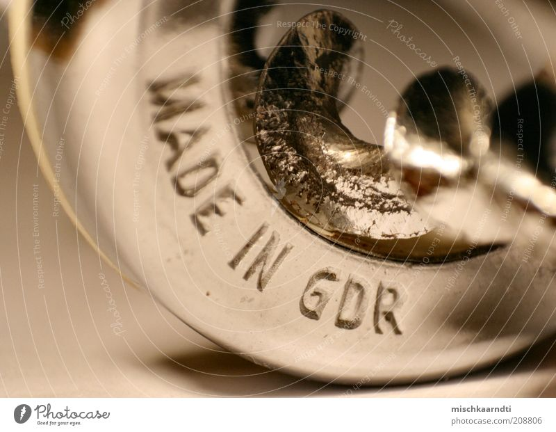 Old Metal Glittering Germany Retro Past GDR Silver Past Depth of field Legacy Whorl Corkscrew Gravure