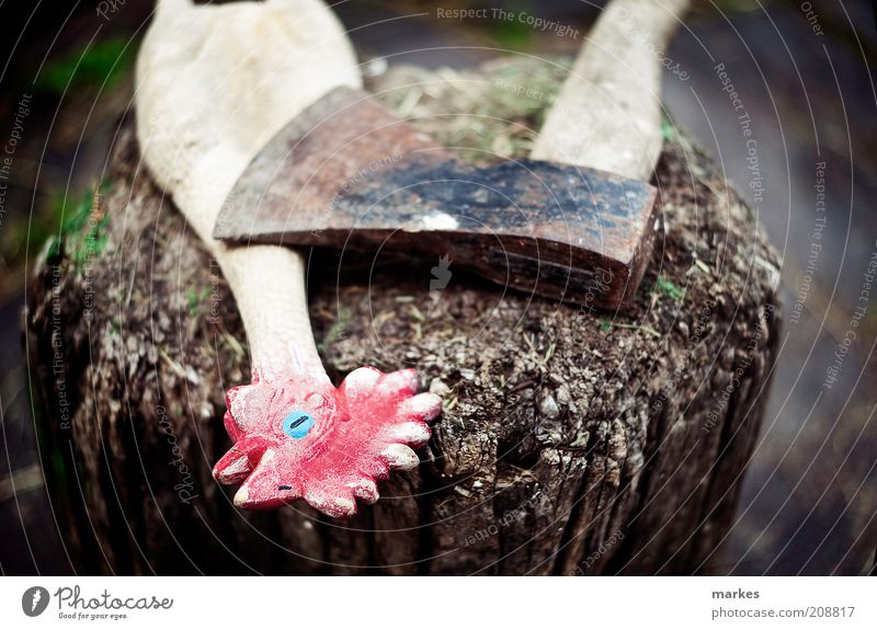 who killed cousin boneless? Animal Wood Art Kitsch Trashy Bizarre Tool Light Culture Axe
