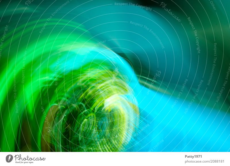 vortex Environment Round Blue Green Turquoise Radial Beam of light Abstract Structures and shapes Background picture Dynamics Colour photo Experimental Pattern