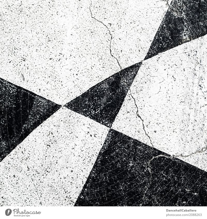 ...black...white...white...black... Street Stone Line Stripe Broken Modern Black White Old Crack & Rip & Tear Pattern Triangle Background picture Neutral