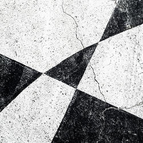 ...black...white...white...black... Street Stone Line Stripe Broken Modern Black White Old Crack & Rip & Tear Pattern Triangle Background picture Neutral