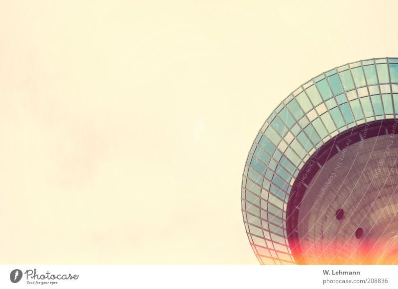 Sky Blue Red Black Above Architecture Building Metal Glass Concrete Tower Vantage point Manmade structures Upward