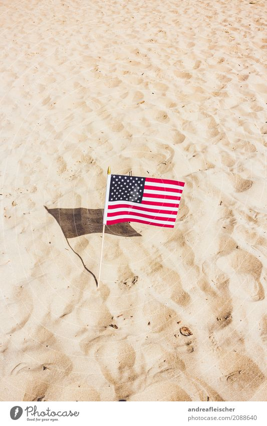 Loneliness Joy Beach Life Sand USA Stars Soft Hill Dry Flag Desert Striped Artificial Patriotism Lunar landscape