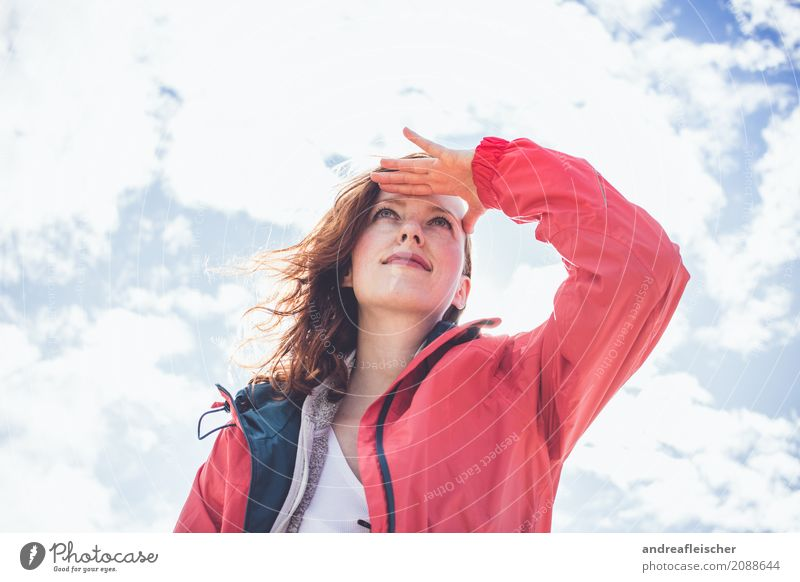 Human being Sky Vacation & Travel Youth (Young adults) Young woman Beautiful Clouds Far-off places 18 - 30 years Adults Feminine Happy Contentment Wind USA