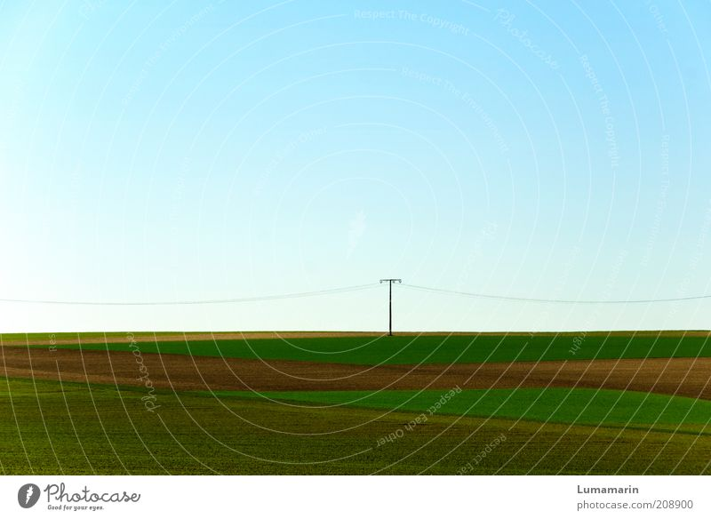 electricians Energy industry Environment Landscape Cloudless sky Horizon Spring Beautiful weather Field Stand Simple Far-off places Free Fresh Infinity Long