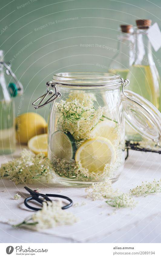elderflower syrup Elderflower Elderberry Spritzer Water Lemon Lime Beverage Drinking Refreshment Bottle of juice Juice Juice glass Glass Syrup Vintage Fruity