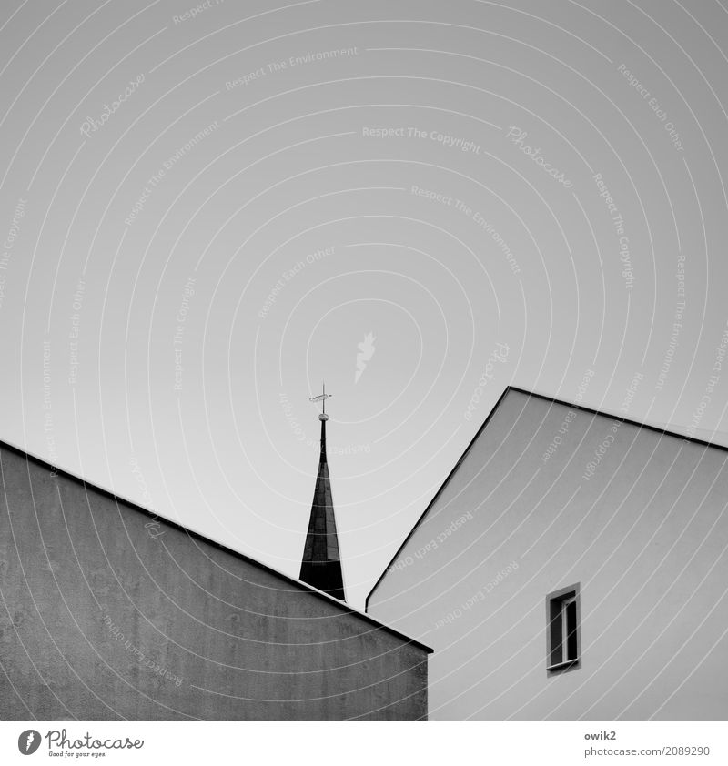 Lonely tip Cloudless sky Beautiful weather Bautzen Lausitz forest Germany Downtown House (Residential Structure) Church Dome Building Church spire
