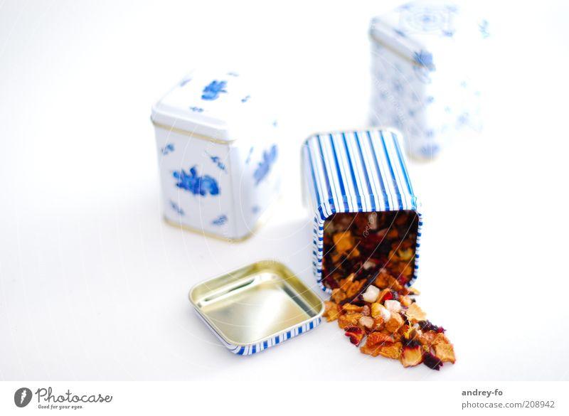 Blue Metal Esthetic Zen Stripe Tea Delicious To enjoy Tin Tea plants High-key Beverage Food Aromatic Fragrant Plastic container