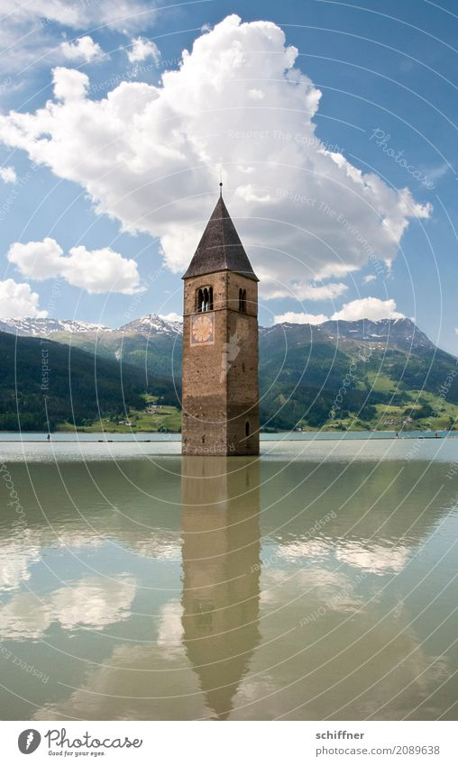 ...up to my neck Environment Landscape Beautiful weather Lake Church Ruin Manmade structures Tourist Attraction Landmark Monument Exceptional Church spire