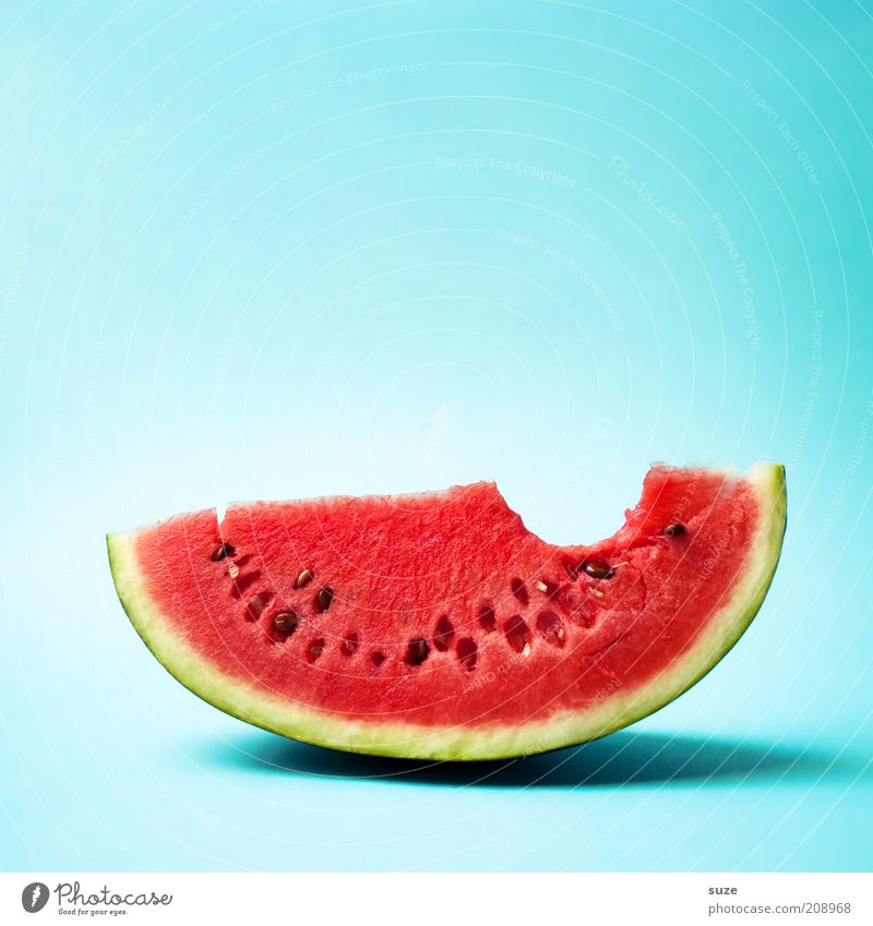 first contact Food Fruit Dessert Nutrition Organic produce Vegetarian diet Diet Fresh Delicious Juicy Sweet Green Red Appetite Bite Water melon Melon Empty