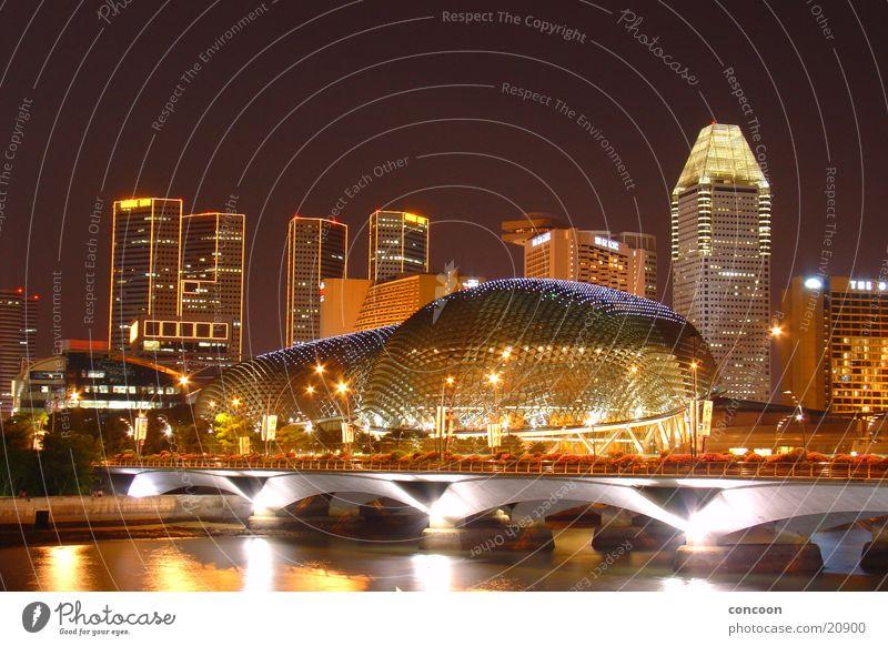 Architecture Glittering Success High-rise Bridge River Luxury Skyline Set Fascinating Modern architecture