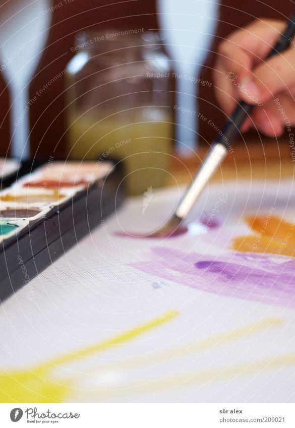 art filter Hand Paintbrush Watercolor watercolour box paint box Tumbler Happiness Happy Wet Positive Beautiful Yellow Violet Black White Joy Contentment Colour