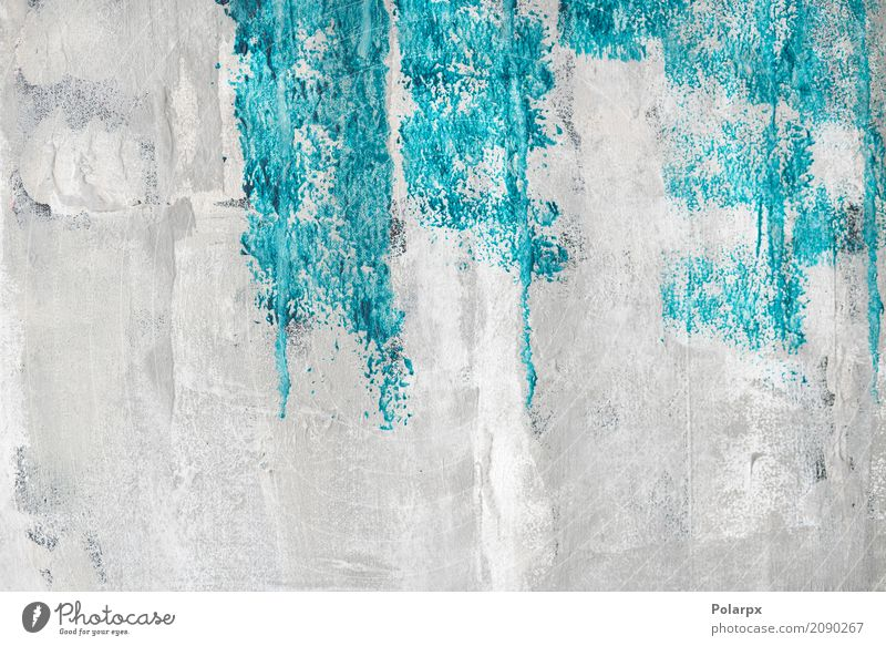 Blue paint on a grunge wall Design Beautiful Decoration Wallpaper Art Cloth Paper Concrete Old Dirty Bright Retro Turquoise White Colour Creativity bg