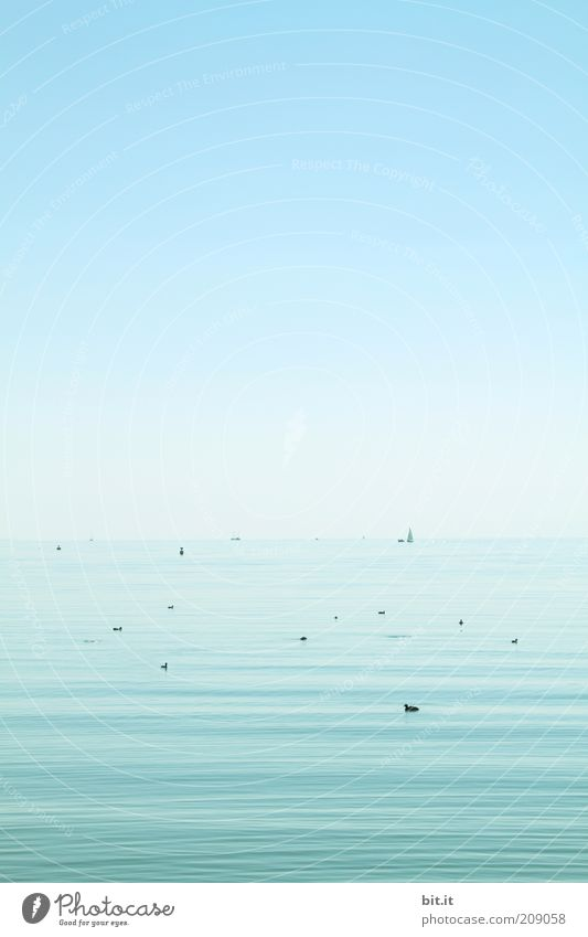 Sky Nature Water Blue Ocean Summer Calm Loneliness Far-off places Landscape Freedom Lake Contentment Horizon Elements Point