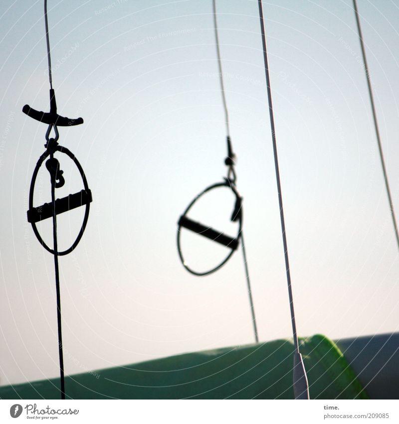 Sky Metal Watercraft Rope Circle Metalware Round Things String Diagonal Sailing Hang Sailboat Fastening Checkmark Delicate