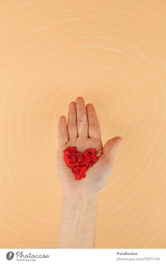 Hand Red Love Art Esthetic Heart Lovers Confetti Valentine's Day Sincere Heart-shaped Love affair Hearty Declaration of love Cardiovascular system Heartless