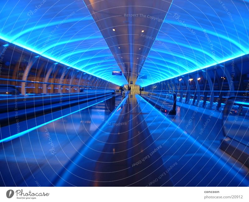 minutes in manchester Manchester England Escalator Europe manchester airport stylish blue blue light