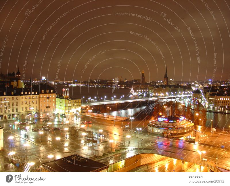 Northern Lights: Stockholm Downtown Town Northern Europe Sweden catharinahiss lights of the big city