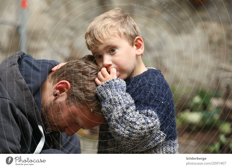 Together Parenting Child Toddler Father Adults Family & Relations Old town Blonde Emotions Compassion Attentive Relationship Berlin Generation youthful