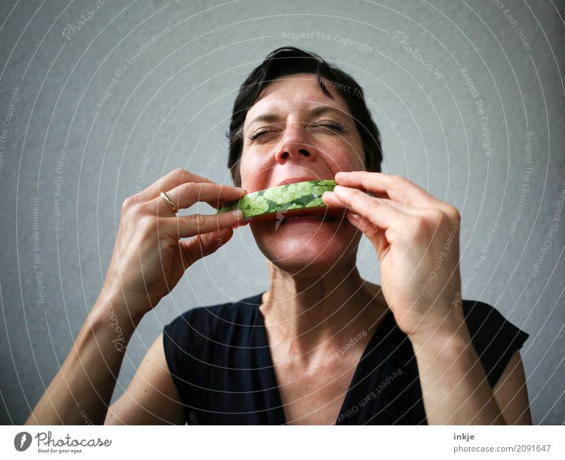 Human being Woman Hand Face Adults Eating Life Emotions Healthy Wild Fruit Nutrition Fresh To enjoy Delicious Part
