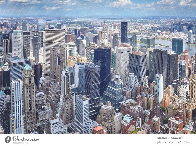 Manhattan Summer Flat (apartment) Office Town Downtown Skyline High-rise Bank building Building Architecture Vacation & Travel Modern Business Shopping New York