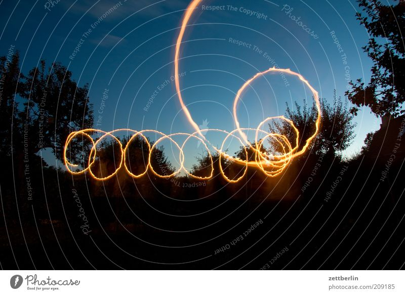 scallywag Line Draw Dynamics Illumination Tracer path Visual spectacle Magic Circle Spiral Light (Natural Phenomenon) Sky Colour photo Exterior shot