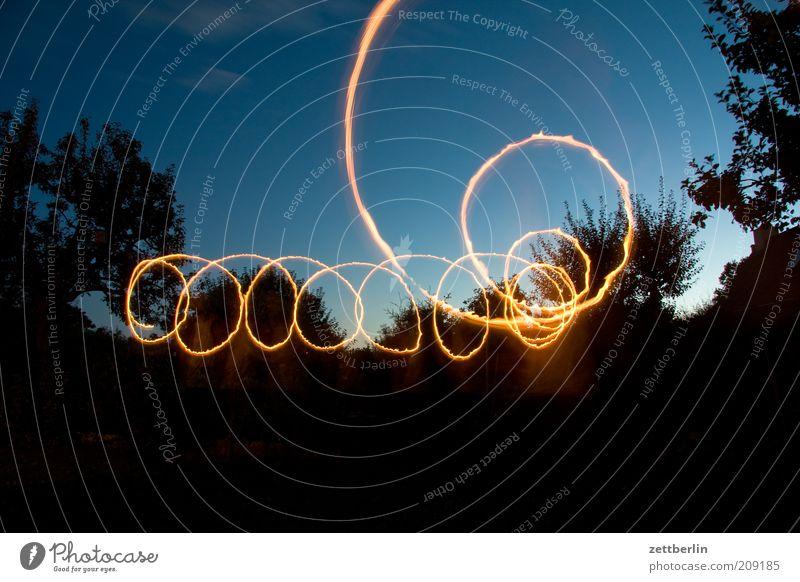 scallywag Line Draw Dynamics Illumination Tracer path Visual spectacle Magic Circle Spiral Light (Natural Phenomenon) Sky Colour photo Exterior shot
